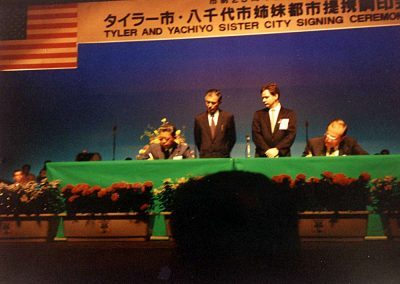 Signing ceremony in Yachiyo