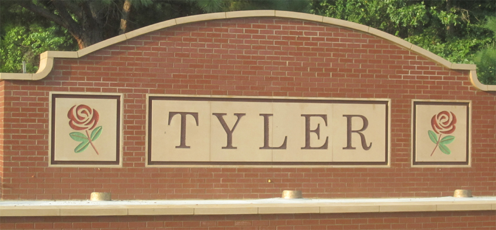 Tyler is a city in and the county seat of Smith County, Texas, in the United States. It takes its name from President John Tyler. Tyler's 2014 estimated population is 107,405.